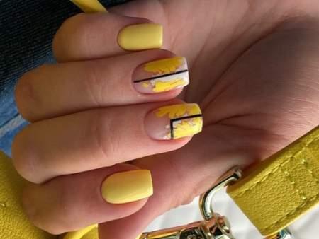 желтый полупрозрачный дизайн