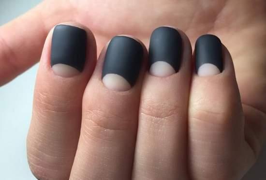 черные лунные ногти