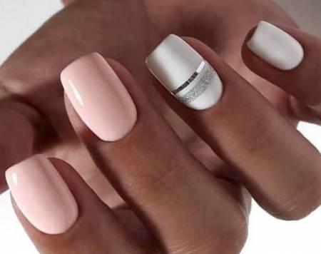 полоски из фольги на ногтях