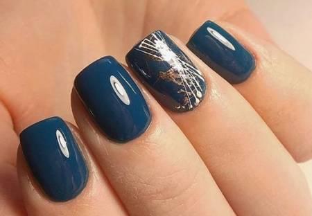 синий с серебром