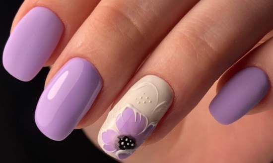нежные нарощенные ногти