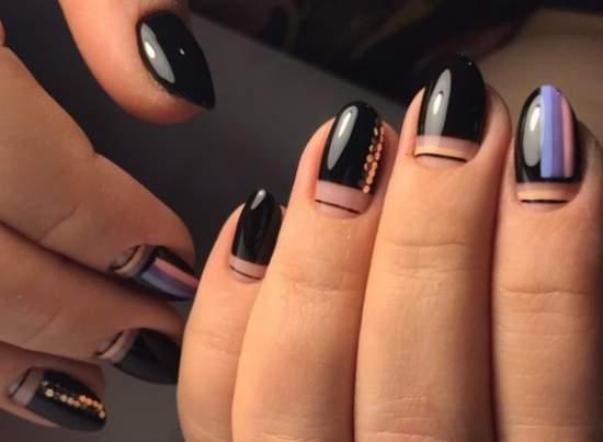 нарощенные ногти геометрия 2019