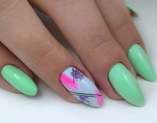 стильные бирюзовые ногти