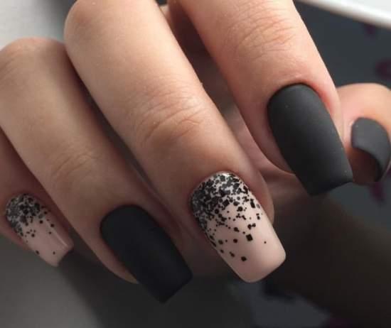 стильный дизайн нарощенных ногтей