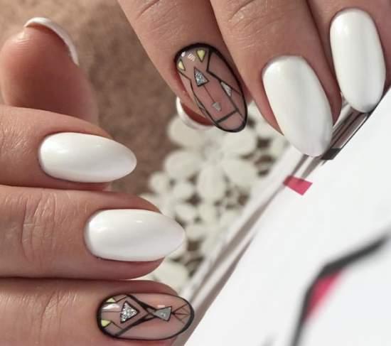 нарощенные ногти геометрия