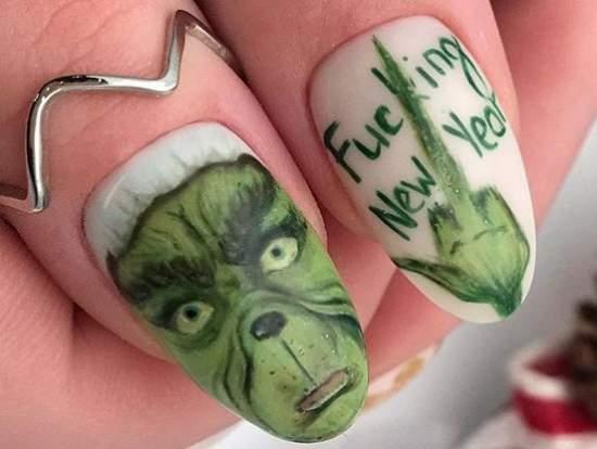 крутые надписи на ногтях