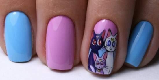мультики на ногтях