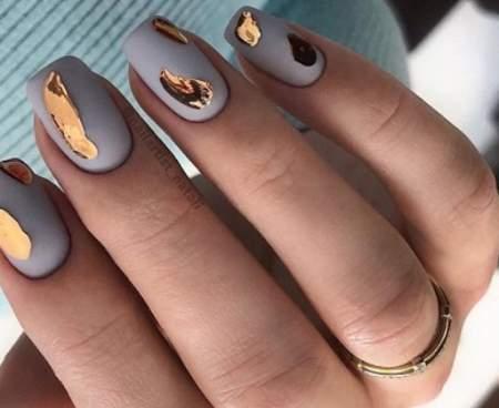 жидкий металл на ногтях