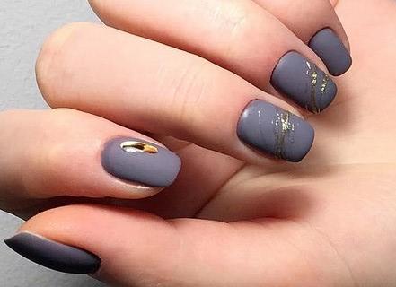 Техника жидкий металл: украшаем ногти каплями расплавленного золота