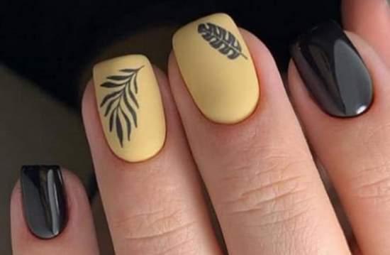 квадратные нарощенные ногти