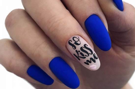 надпись на ногтях