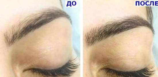 Новинка  броу-индустрии: наращивание бровей, фото до и после