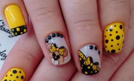 Детский маникюр на короткие ногти: фото красивых дизайнов
