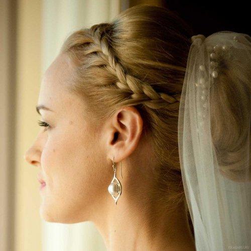 Свадебные прически на каре с челкой фото