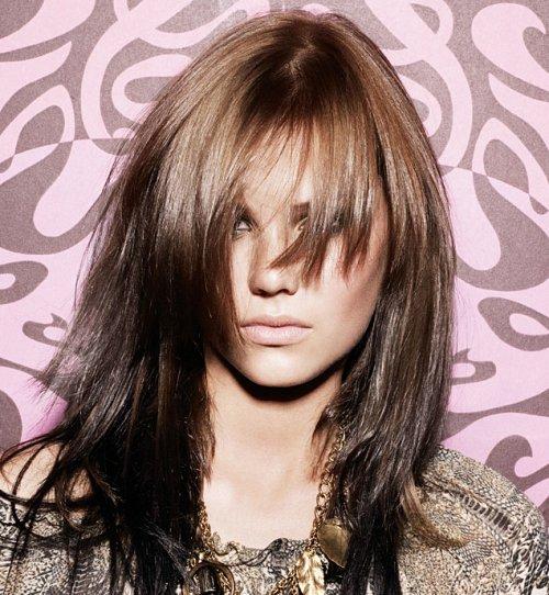 Варианты челок для длинных волос