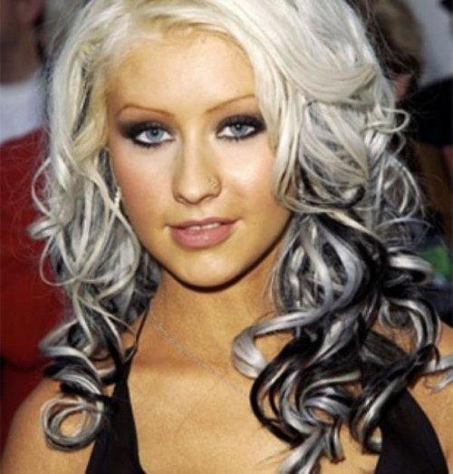 Омбре на светлые волосы с челкой фото