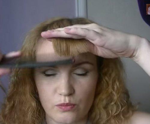 Как профилировать челку обычными ножницами?