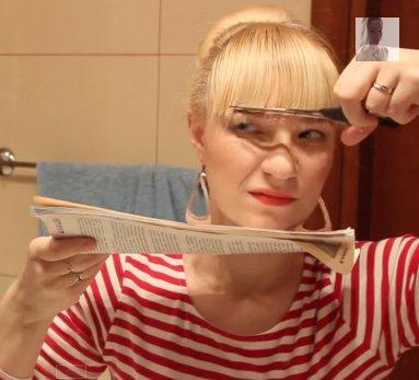 Как сделать чёлку как у Насти Шевченко?