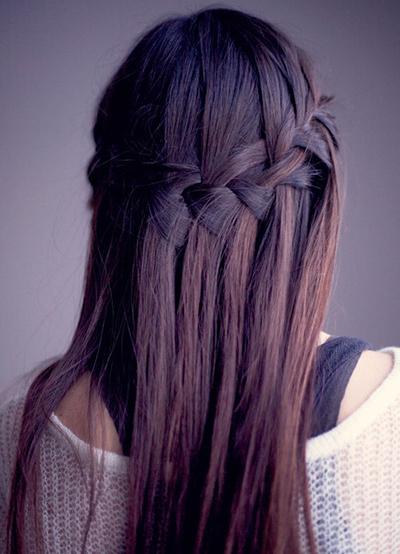 коса водопад плетение