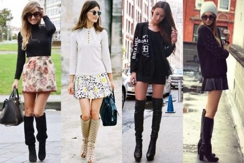С чем носить ботфорты: самые модные комбинации