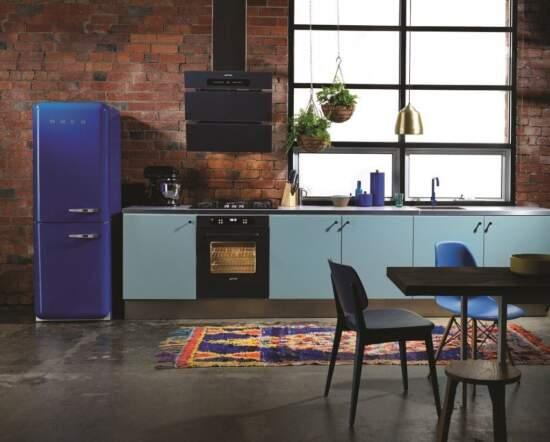 Ретро-холодильники Smeg в дизайне интерьера